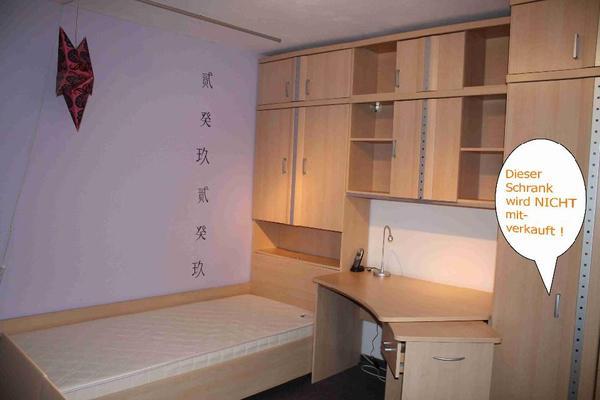 jugendzimmer memphis bett mit bettkastenschrank h ngeschrank schreibtisch bergahorn. Black Bedroom Furniture Sets. Home Design Ideas