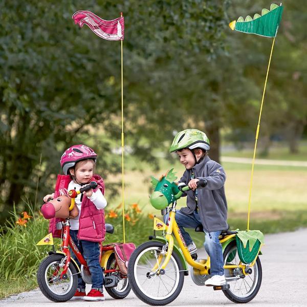 Kinderrad - Wimpel mit Stange -