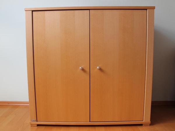 kinderzimmer paidi varietta kommode 90cm hoch 2 t ren buche natur in ostfildern schr nke. Black Bedroom Furniture Sets. Home Design Ideas
