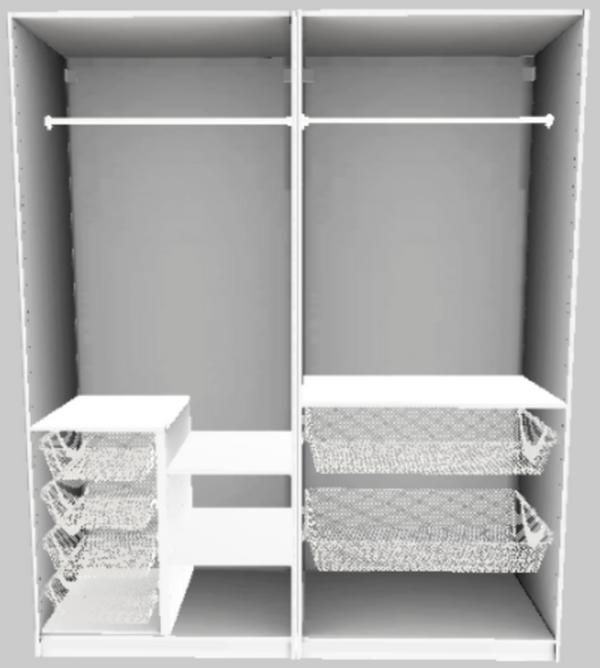 Pax Schrank Weiß gebraucht kaufen! Nur 3 St. bis -75% günstiger