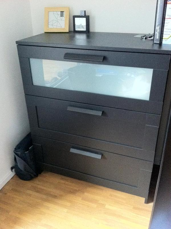 kommode brimnes von ikea in schwarzbraun in frankfurt. Black Bedroom Furniture Sets. Home Design Ideas