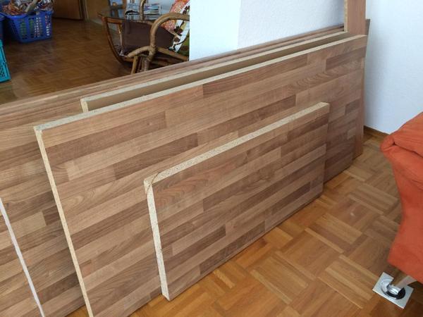 Küchenarbeitsplatten Nussbaum verschiedenen Größen in Schriesheim ... | {Nolte küchen arbeitsplatten nussbaum 99}