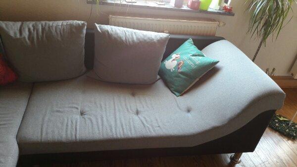 L-Couch in schwarz grau gebraucht kaufen  68542 Heddesheim