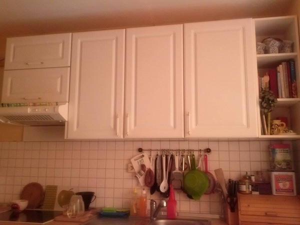 Landhausküche weiß mit Bosch-Spülmaschine, Kühlschrank, Herd in ... | {Landhausküche weiß 57}