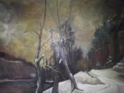Landschaftsgemälde Winter
