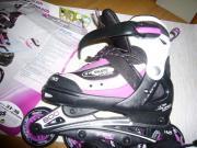 Mädchen Rollerskate + Schutzausrüstung