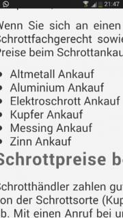 Metalle Ankauf Schrottankauf