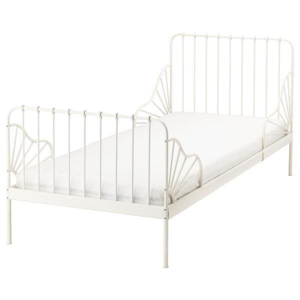 Bett weiß ikea  Minnen Bett (weiß) IKEA mit Matratze und Lattenrost in Straßenhaus ...
