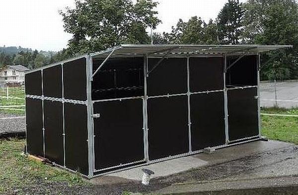 mobil zerlegbare Außenbox 6x3m ab