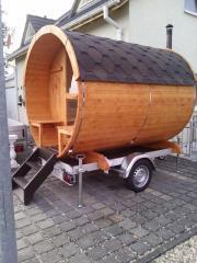 Mobile Sauna Faßsauna