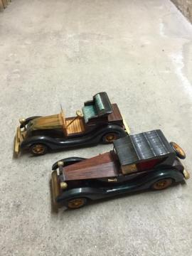 Modellautos - Modellautos Holz Oldtimer 2 Stück