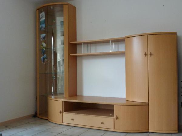 moderner wohnzimmerschrank massiv buche mit runden türen in ... - Moderne Wohnzimmer Schrank