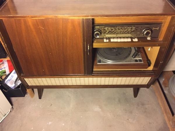 Musiktruhe Vintage 50 Er Jahre Telefunken Radio Und Plattenspieler