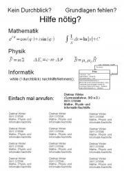 Nachhilfe in Mathematik Physik und