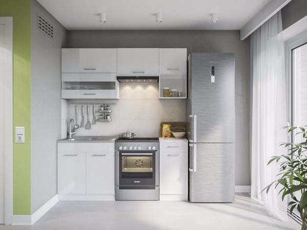 Neu Küche Einbauküche 'Alina Weißlack' 180, 200, 220, 240, 260Cm