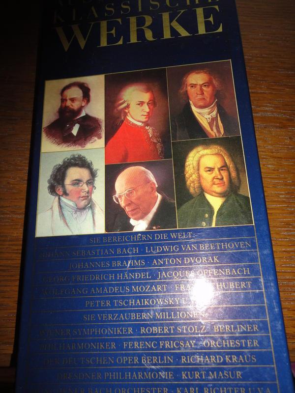 Neue Geschenkpackungen Musikcassetten Klassik Musical