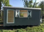 NEUer Holzwagen, Gartenhaus,