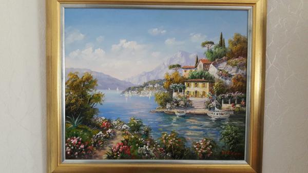 Mediterrane Gemälde ölgemälde mediterran handsigniert v künstler w eder in