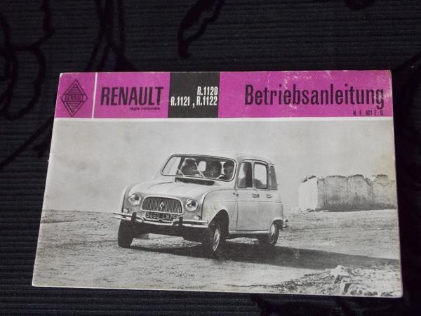 Original Betriebsanleitung Renault R 1120