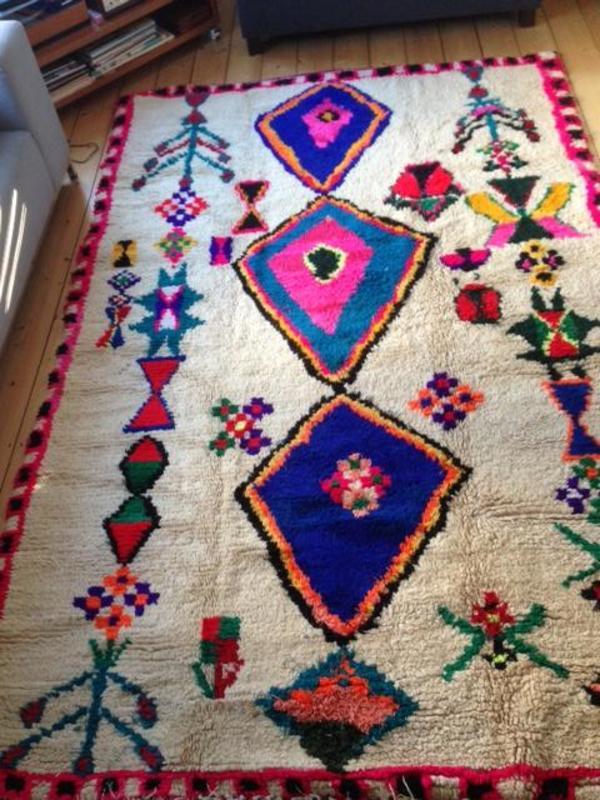 Teppich Darmstadt original marokkanischer teppich vintage nomaden teppich kelim in