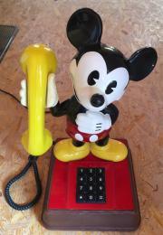 Original Micky Maus Tasten-Telefon Retro