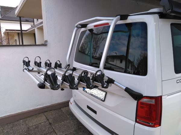 original vw bus t6 fahrradtr ger hecktr ger gep cktrager. Black Bedroom Furniture Sets. Home Design Ideas