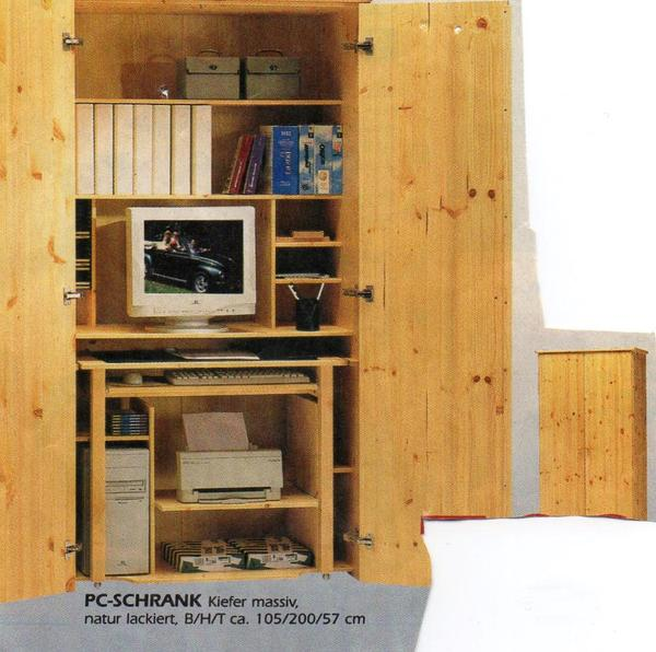 pc schrank schreibtisch schrank kiefer massiv in hamburg kinder jugendzimmer kaufen und. Black Bedroom Furniture Sets. Home Design Ideas