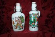 Porzellan Schnapsflaschen 2 Stück mit