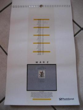 Bild 4 - Postdienst Kalender von 1992 mit - Birkenheide Feuerberg