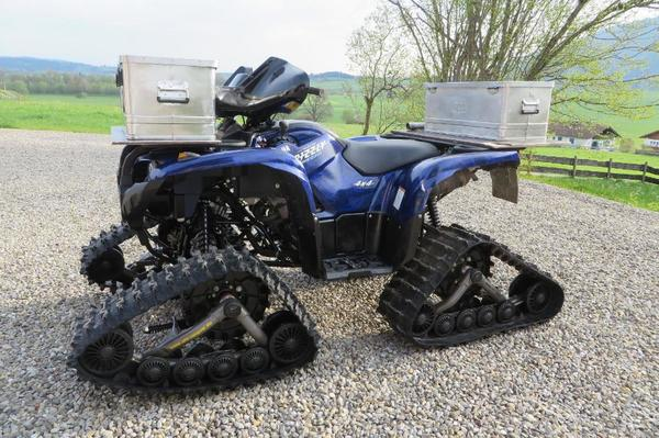 quad yamaha yfm 700 grizzly 700 mit raupen und neuen r dern in ro dorf quads atv all. Black Bedroom Furniture Sets. Home Design Ideas