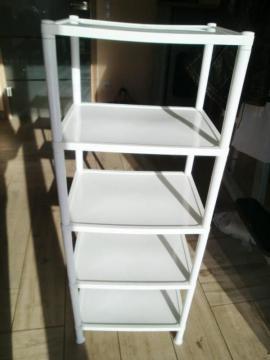 Bild 4 - Regal Badregal Kunststoff weiß auch - Hirschaid