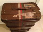 Reisekoffer alt massiv echt Leder