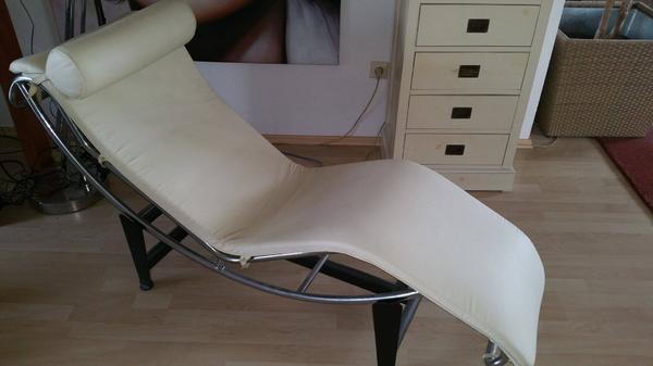 relaxliege leder cremeweiss wenig benutzt in neidenstein. Black Bedroom Furniture Sets. Home Design Ideas