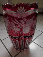 rote Bleikristall Vase