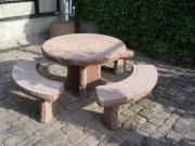 Sandstein Sitzgarnitur Tisch