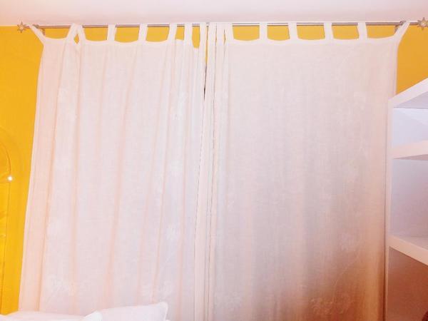 schlaufenvorhang baumwolle wei in m nchen gardinen jalousien kaufen und verkaufen ber. Black Bedroom Furniture Sets. Home Design Ideas