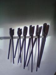 Schmiede-Feuerzangen, komplette