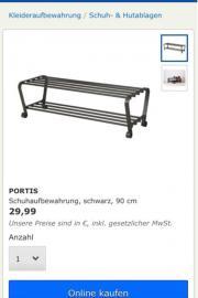 schuhbank ikea haushalt m bel gebraucht und neu. Black Bedroom Furniture Sets. Home Design Ideas