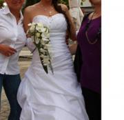 Sehr schönes Hochzeitskleid weiß gr