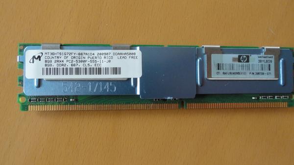 Speicher MICRON DIMM 8GB PC2-5300