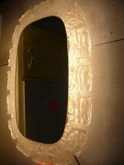 Spiegel mit Beleuchtung 70er Jahre