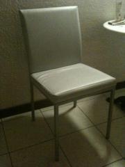 Stabiler Stuhl Kunstleder Eisblau