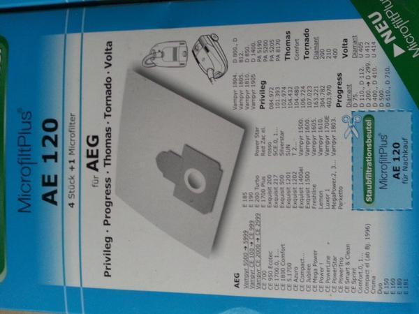 Staubsaugerbeutel AE120