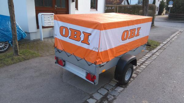 Stema Anhängerset AN 750-10 mit OBI-Hochplane 60 cm in Eching ...