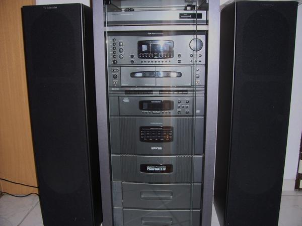 Stereo Anlage Schneider mit Plattenspieler SPP 95 1400