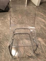 Stuhl transparent verchromt