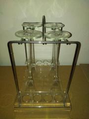 stylische Underberg Minibar mit 4