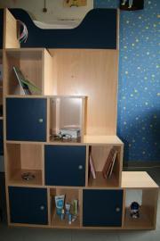 Super Hochbett mit integriertem Schreibtisch und Schrank ...