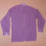 Trachten Hemd lila-weiß kariert Gr