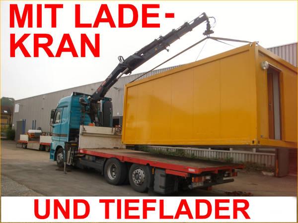 transporte baucontainer wohncontainer seecontainer container bauwagen gabelstapler traktor. Black Bedroom Furniture Sets. Home Design Ideas
